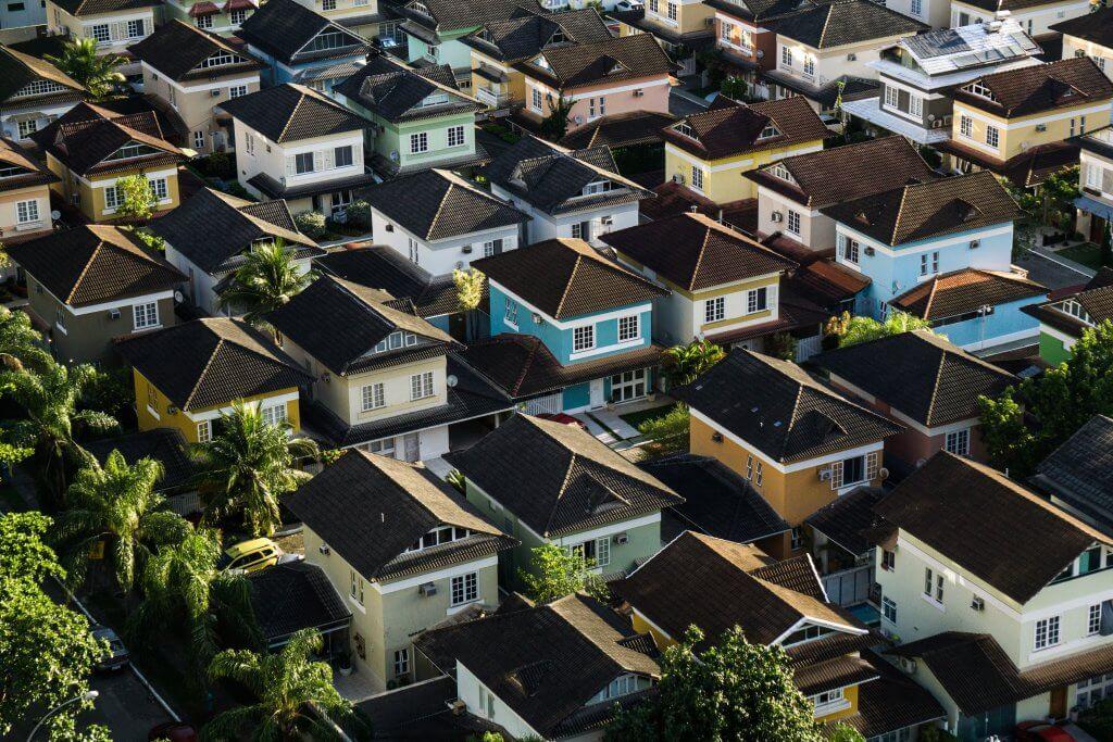 Wohnungen in einem Stadtteil