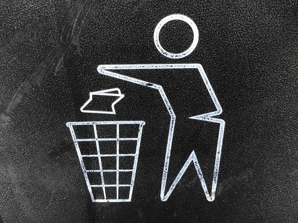 Wegwerf-Symbol, Mülleimer