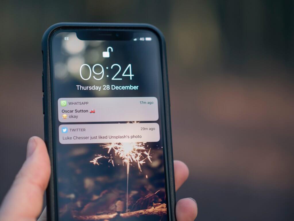 Push-Nachrichten als Erinnerung auf dem Smartphone